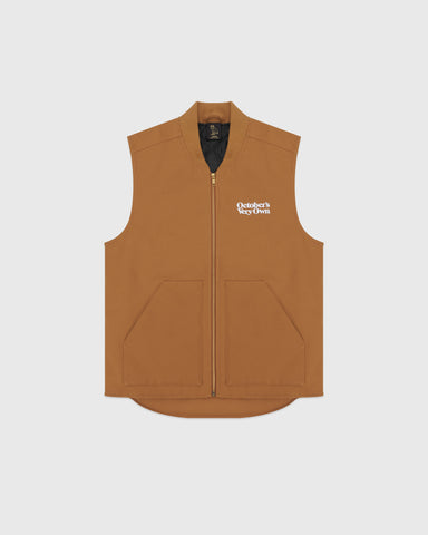 OCTOBER CANVAS VEST - BROWN