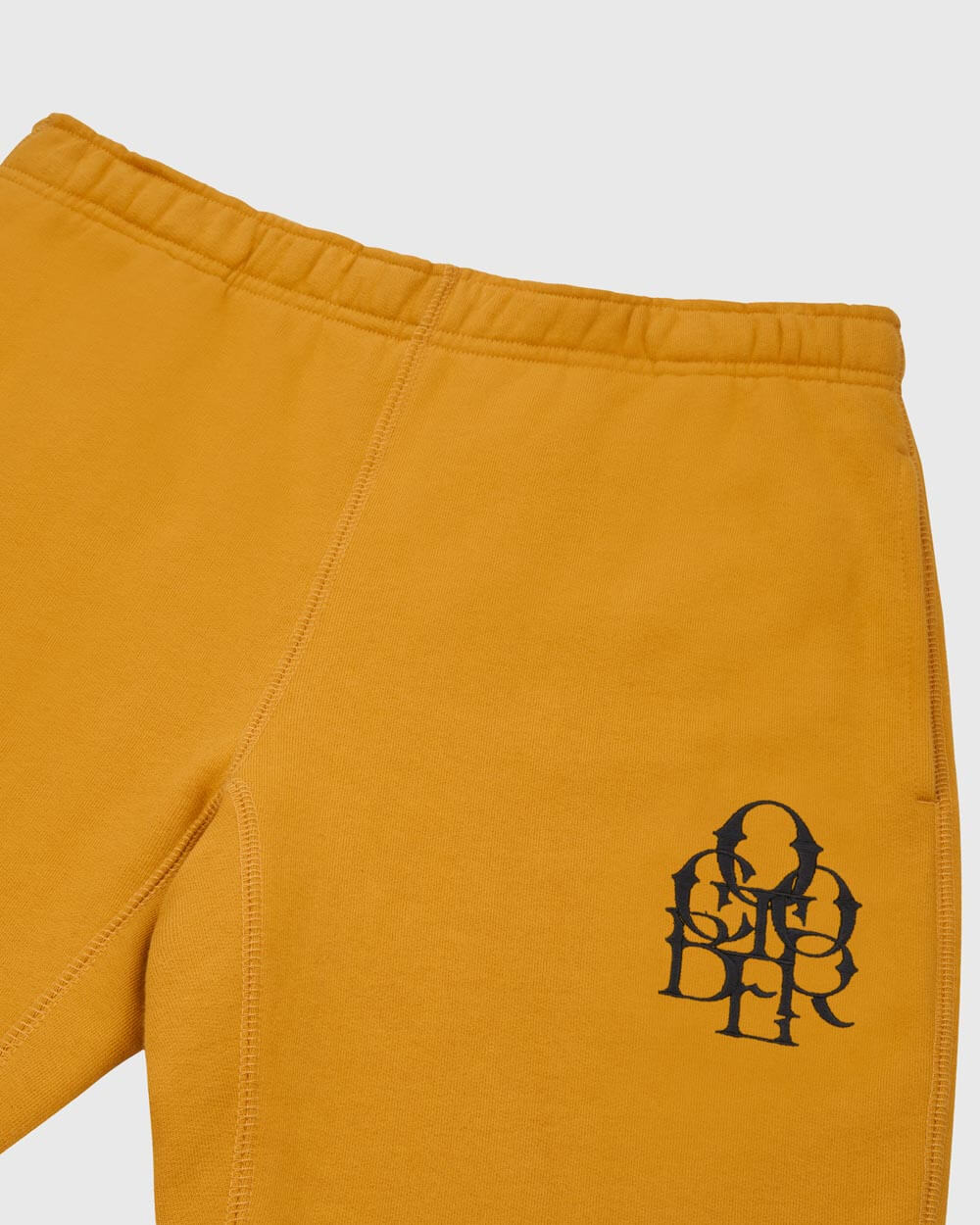 OCTOBER LETTERLOCK SWEATPANT - MUSTARD