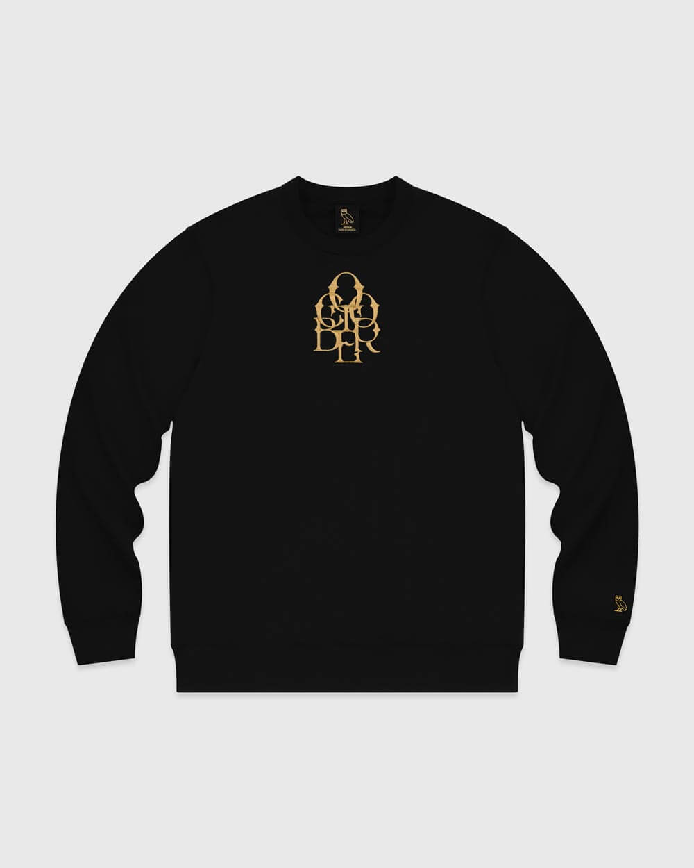 OCTOBER LETTERLOCK CREW - BLACK