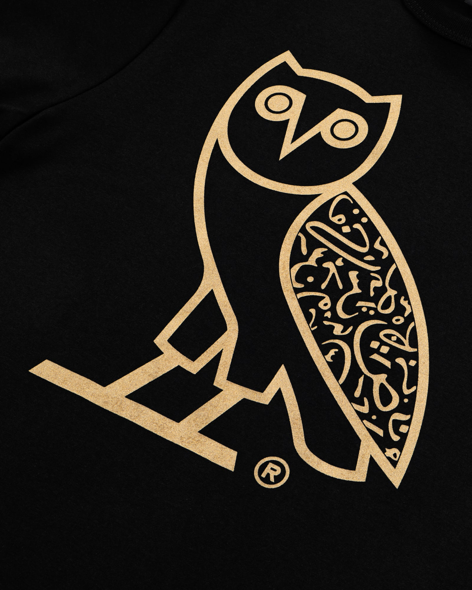 CALLIGRAPHY OG OWL T-SHIRT - BLACK