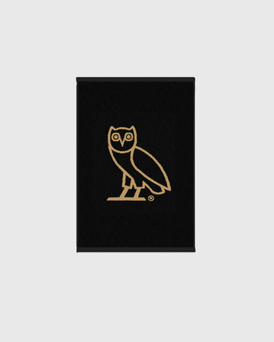 OVO OWL PERSONAL TOWEL - BLACK/GOLD