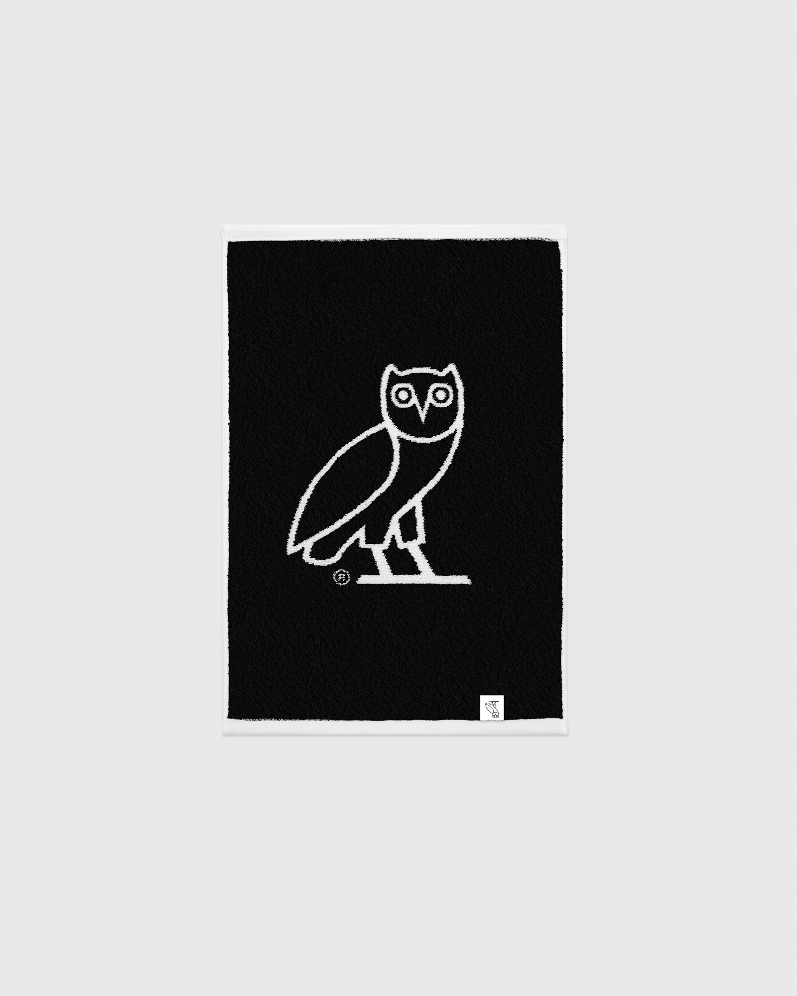 OVO OWL PERSONAL TOWEL - WHITE/BLACK IMAGE #2