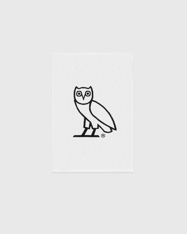 OVO OWL PERSONAL TOWEL - WHITE/BLACK