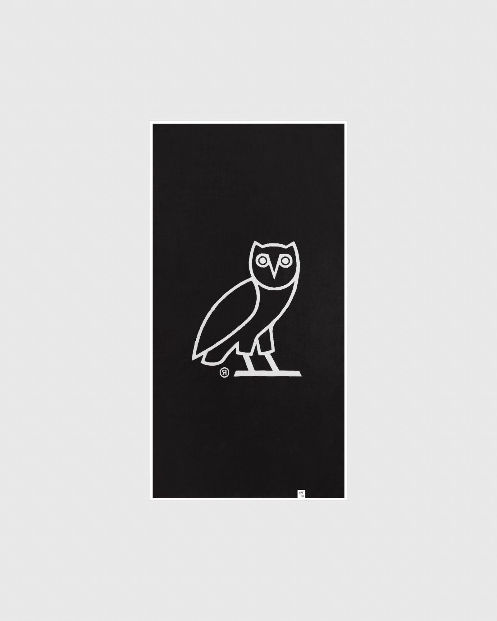 OVO OWL BEACH TOWEL - WHITE/BLACK IMAGE #2