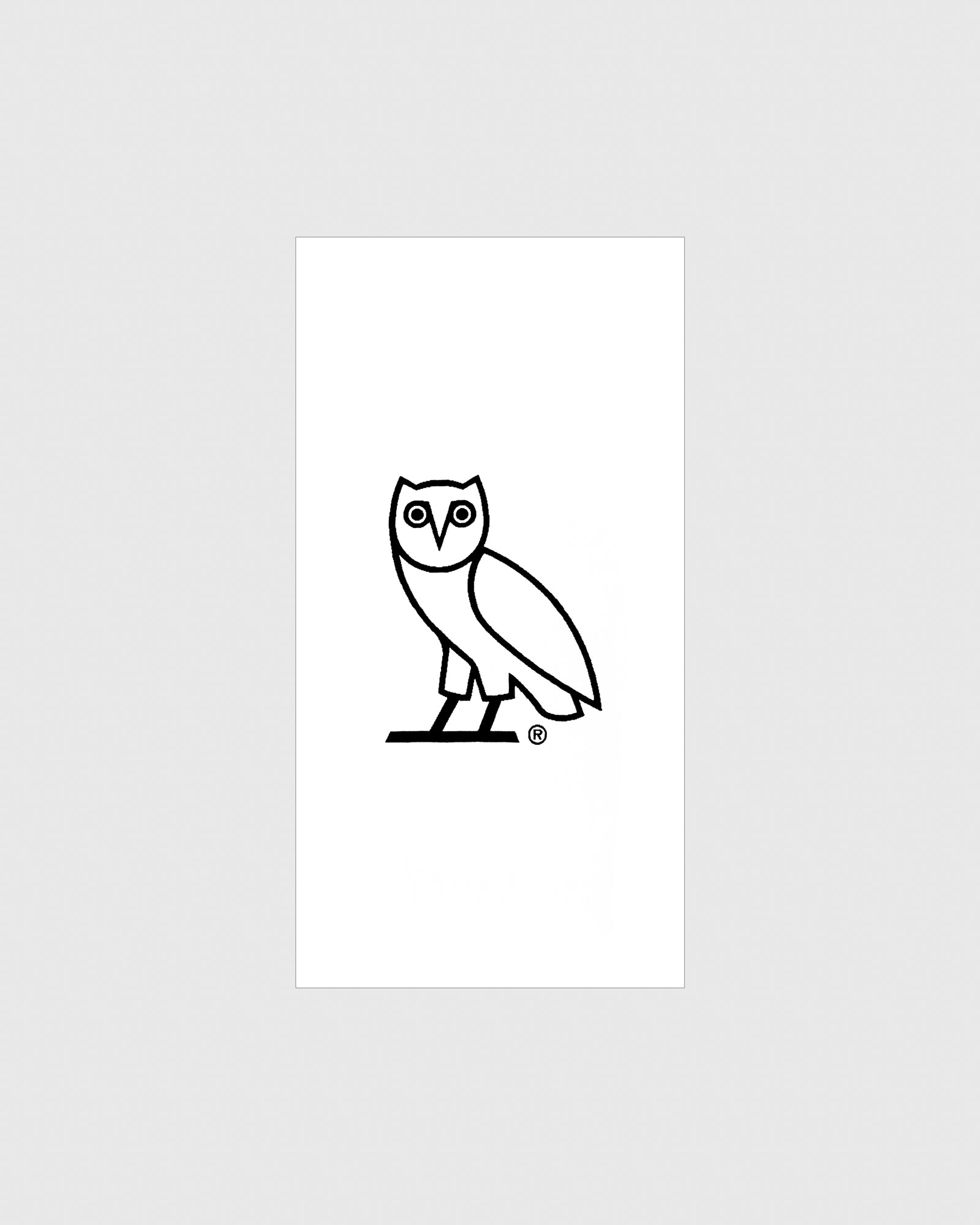 OVO OWL BEACH TOWEL - WHITE/BLACK IMAGE #1