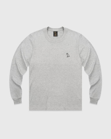 OVO ESSENTIALS LONGSLEEVE T-SHIRT - GREY