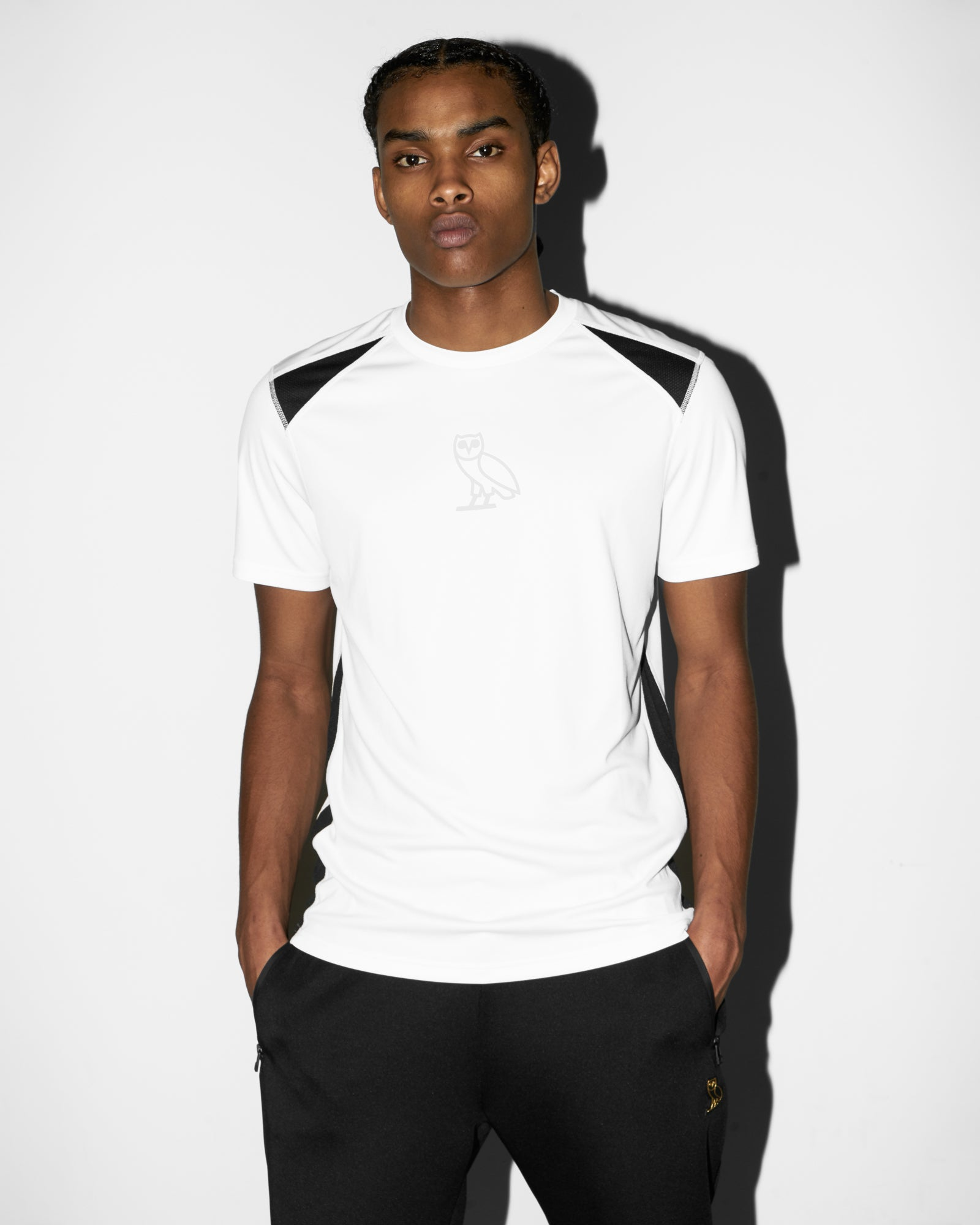 OVO OWL PERFORMANCE T-SHIRT - WHITE IMAGE #2