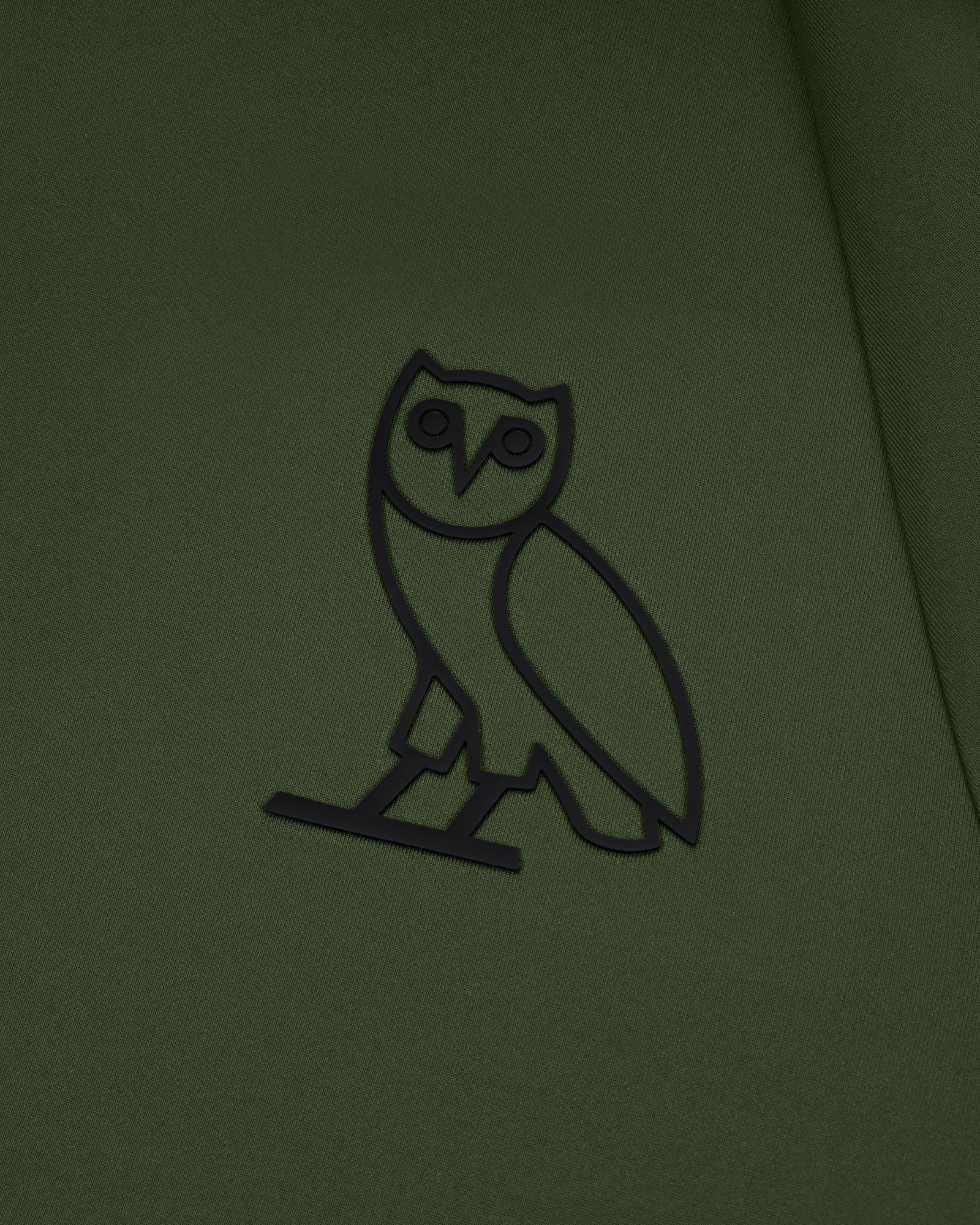 OVO DOUBLE KNIT ZIP HOODIE - MILITARY GREEN IMAGE #3