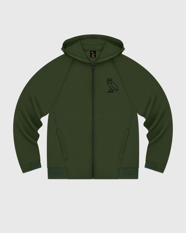OVO DOUBLE KNIT ZIP HOODIE - MILITARY GREEN