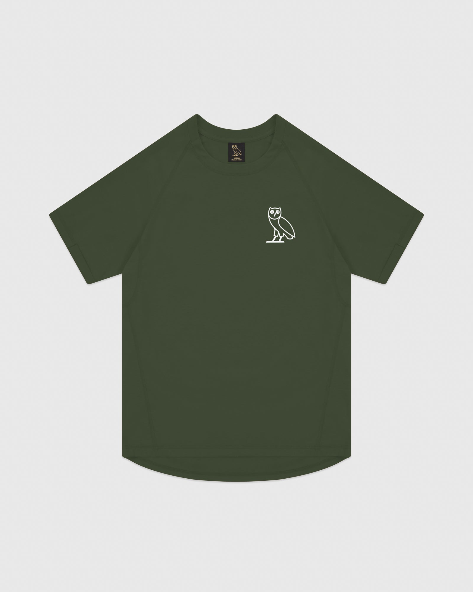 OVO PERFORMANCE JERSEY T-SHIRT - MILITARY GREEN IMAGE #1