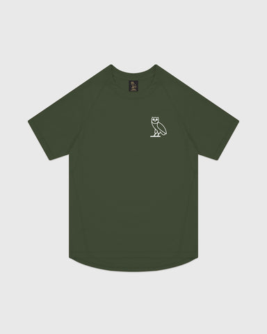 OVO PERFORMANCE JERSEY T-SHIRT - MILITARY GREEN