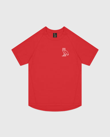 OVO PERFORMANCE JERSEY T-SHIRT - RED