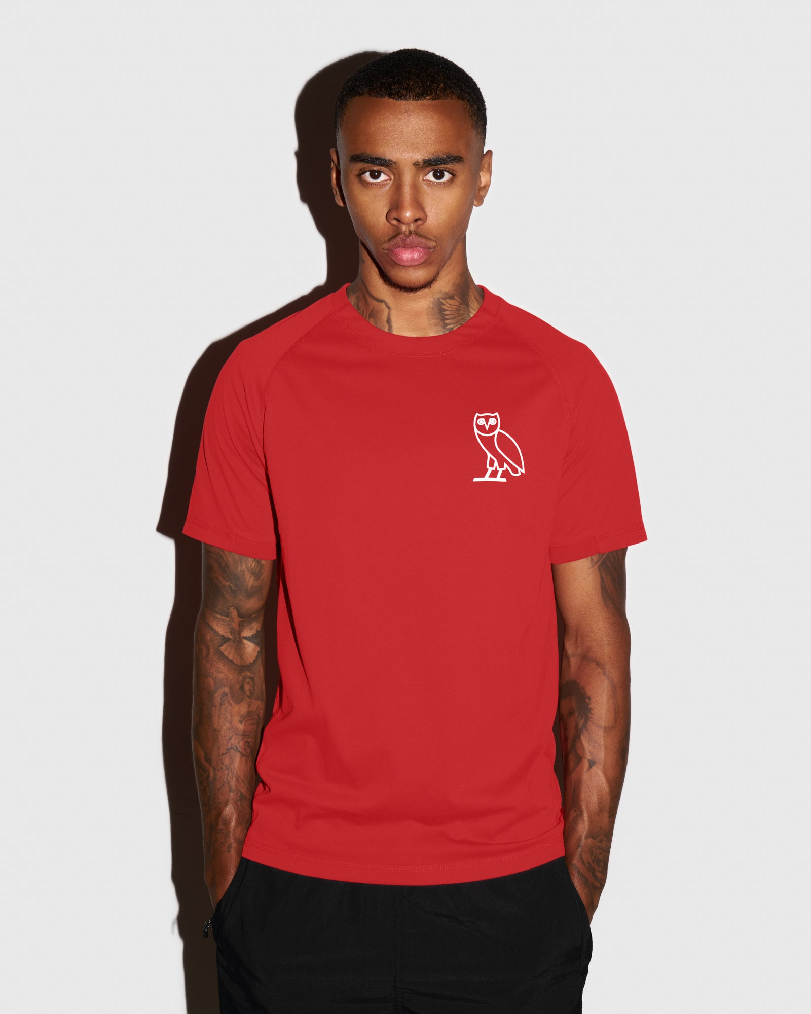 OVO PERFORMANCE JERSEY T-SHIRT - RED IMAGE #2