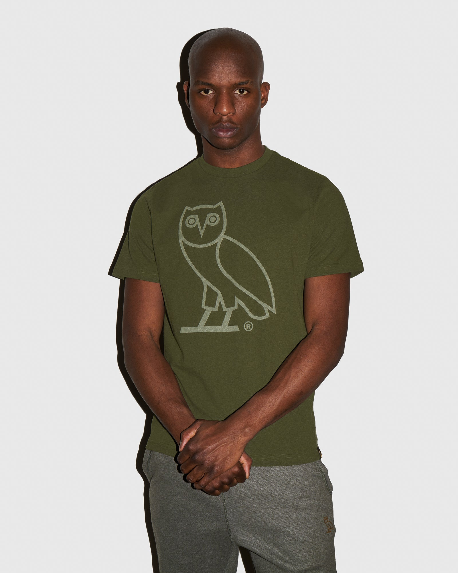 DISCHARGE OWL T-SHIRT - HEATHER MILITARY GREEN