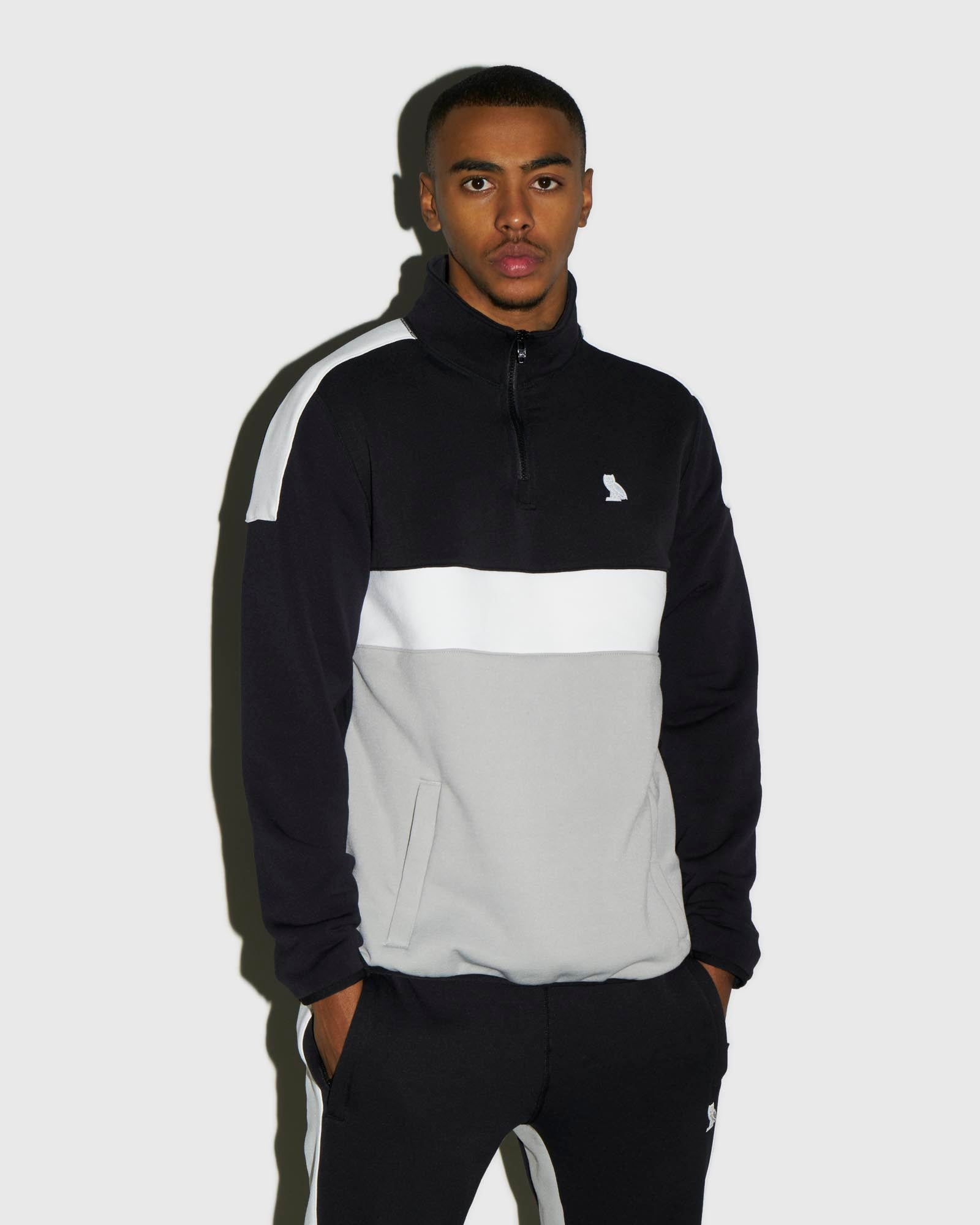 OVO POLARTEC® POWER STRETCH® ZIP MOCK - BLACK IMAGE #2