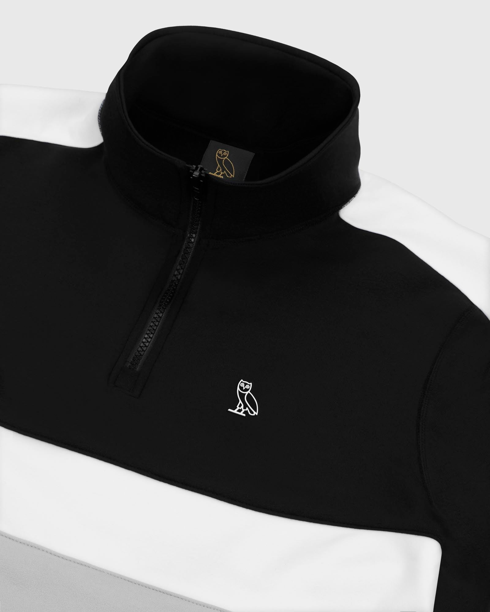 OVO POLARTEC® POWER STRETCH® ZIP MOCK - BLACK IMAGE #4