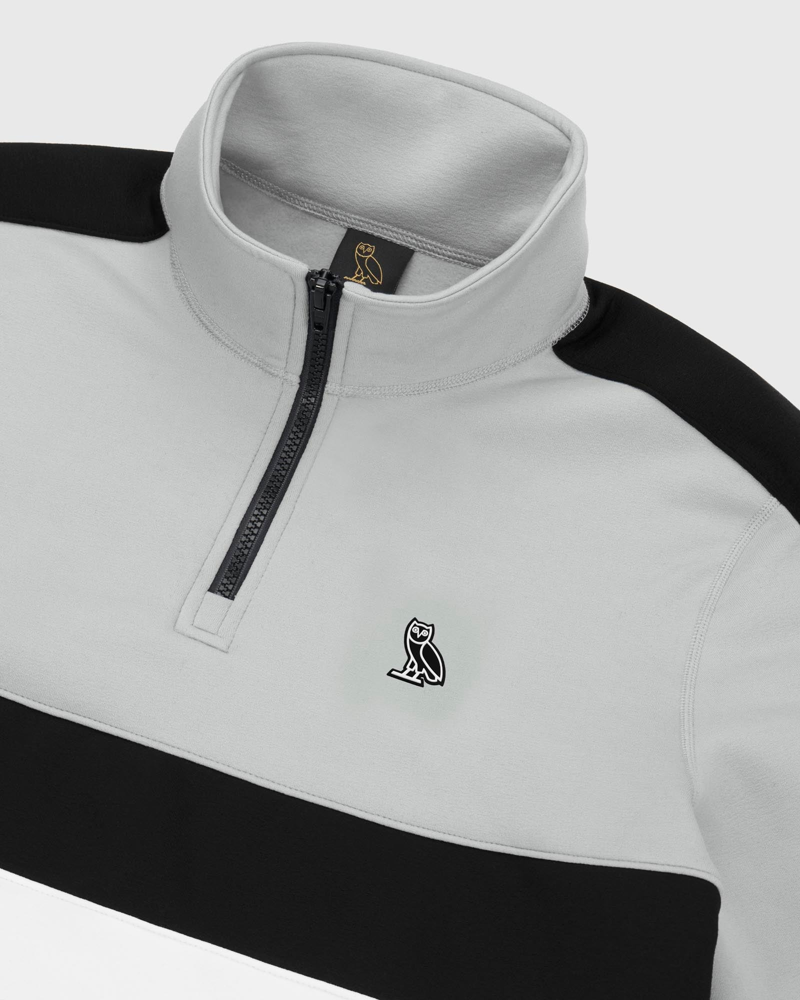 OVO POLARTEC® POWER STRETCH® ZIP MOCK - WARM GREY IMAGE #4