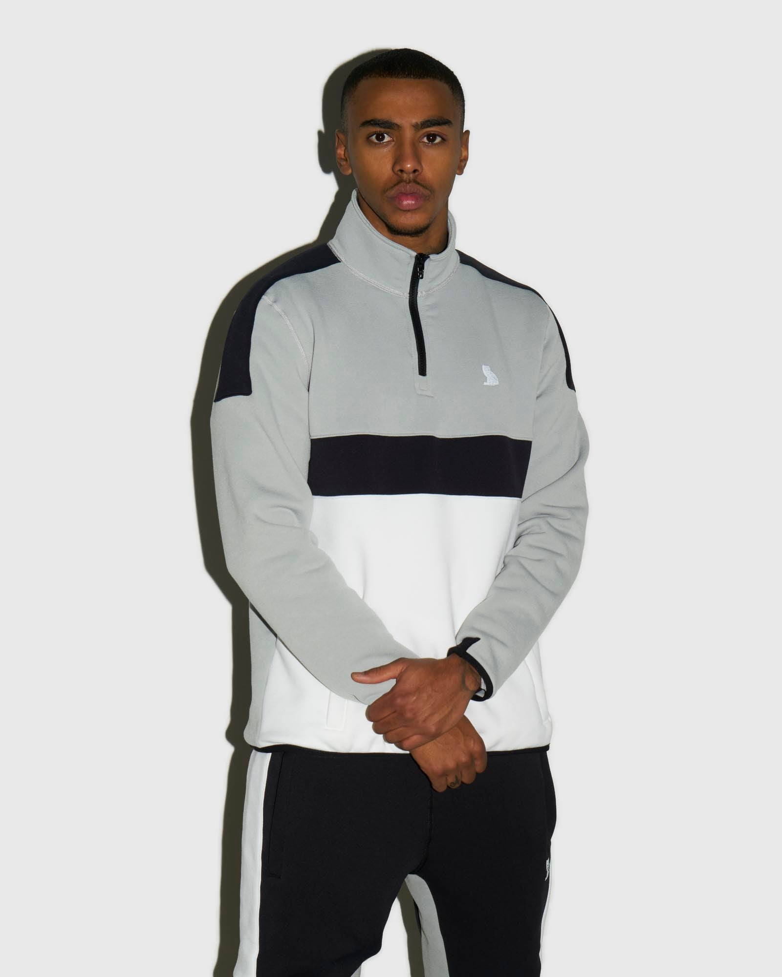 OVO POLARTEC® POWER STRETCH® ZIP MOCK - WARM GREY IMAGE #2