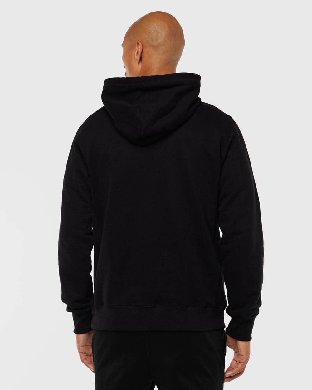 MID-WEIGHT FRENCH TERRY HOODIE - BLACK