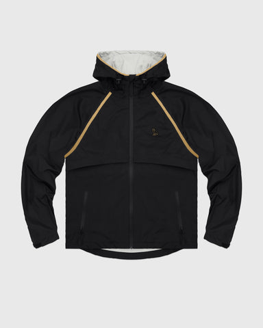 OVO HOODED SHELL JACKET - BLACK/GOLD
