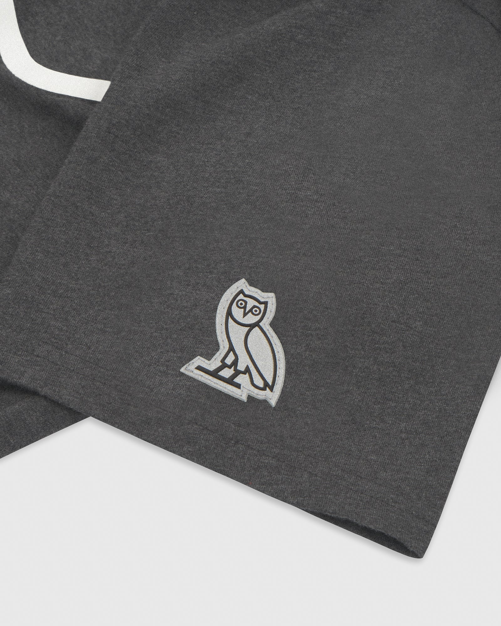 OVO REFLECTIVE POCKET T-SHIRT - HEATHER CHARCOAL