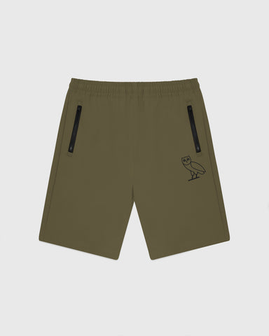 OVO 4-WAY STRETCH SHORTS - LIGHT STONE GREEN