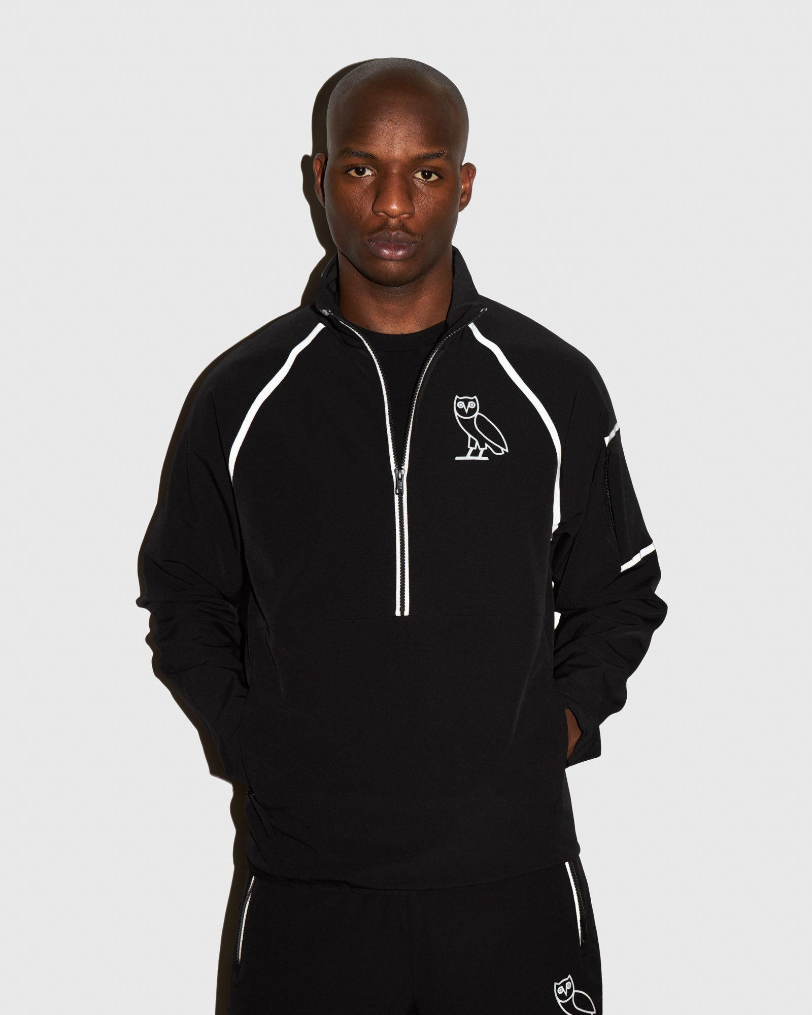 OVO 4-WAY STRETCH ANORAK - BLACK IMAGE #2