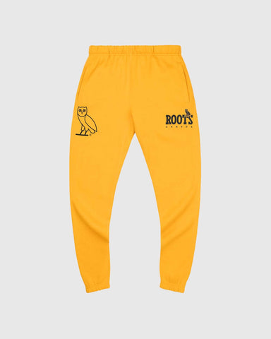 OVO x ROOTS SWEATPANT - YELLOW