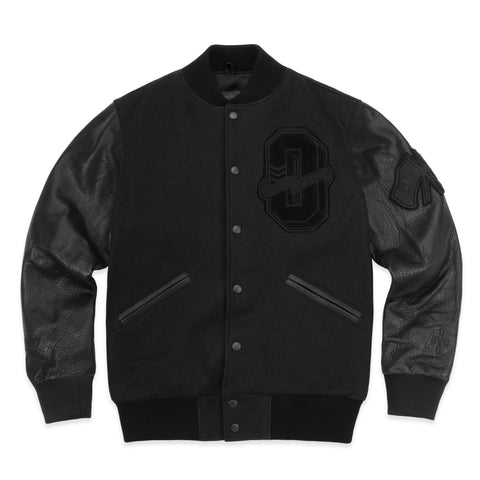 OVO x ROOTS VARSITY JACKET - STEALTH BLACK