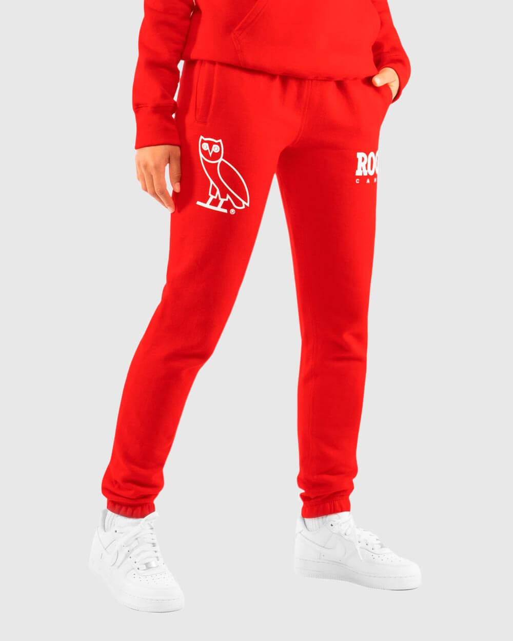 OVO x ROOTS WOMEN'S SWEATPANT - RED