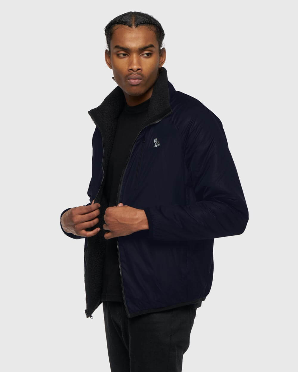 OVO REVERSIBLE POLARTEC® JACKET - BLACK/MIDNIGHT