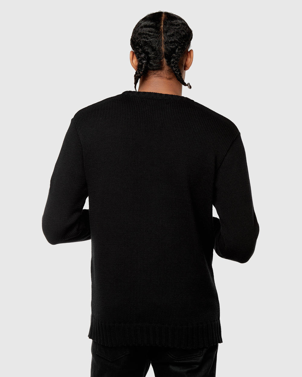 OVO SIGNATURE KNIT SWEATER - BLACK