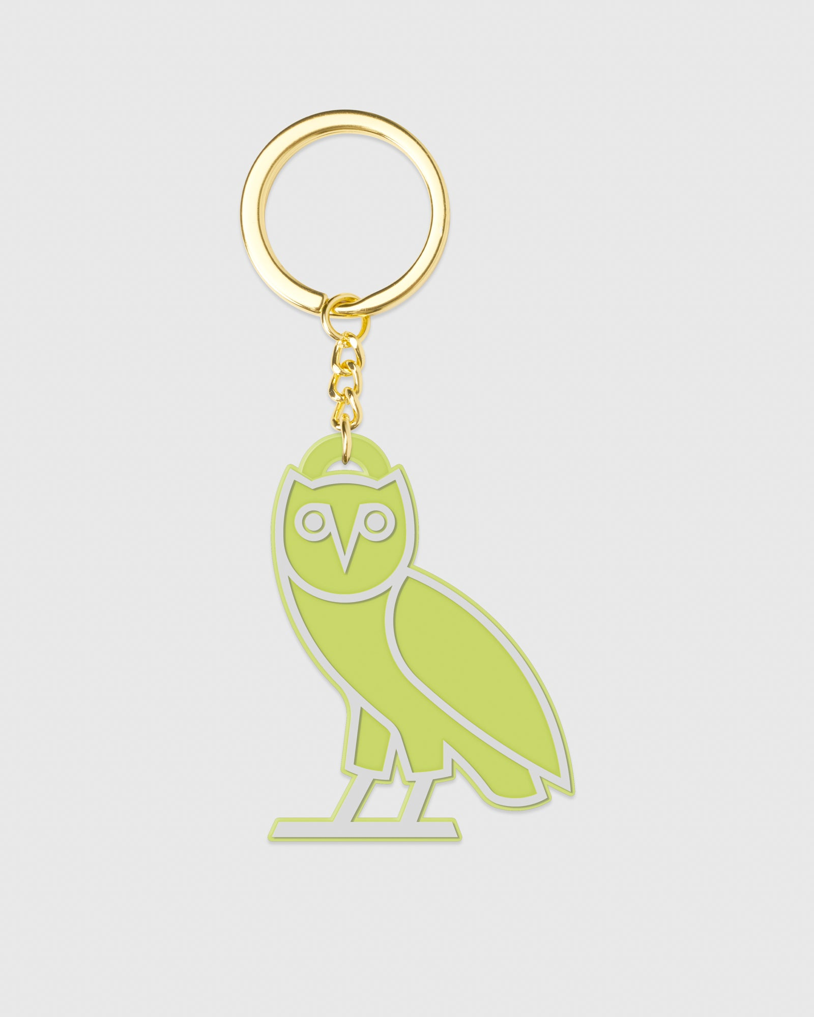 OVO SILICONE OWL KEYCHAIN - NEON GREEN IMAGE #1