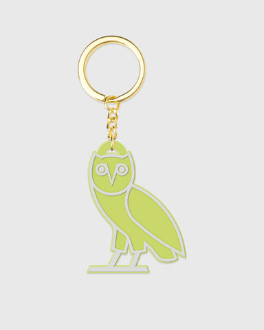 OVO SILICONE OWL KEYCHAIN - NEON GREEN