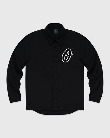 OVO LETTERMAN BUTTON UP - BLACK
