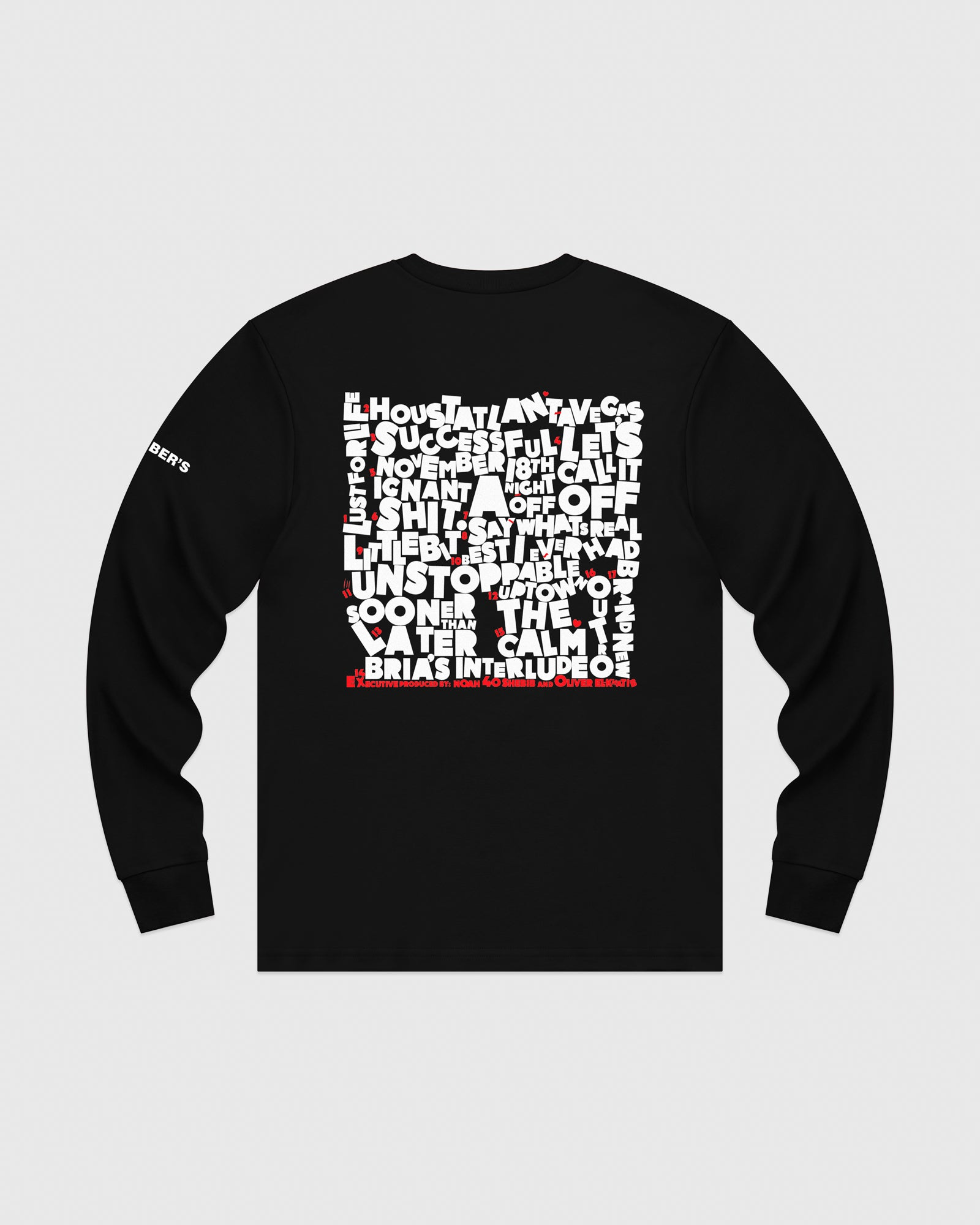 SO FAR GONE LONG SLEEVE T-SHIRT - BLACK IMAGE #5