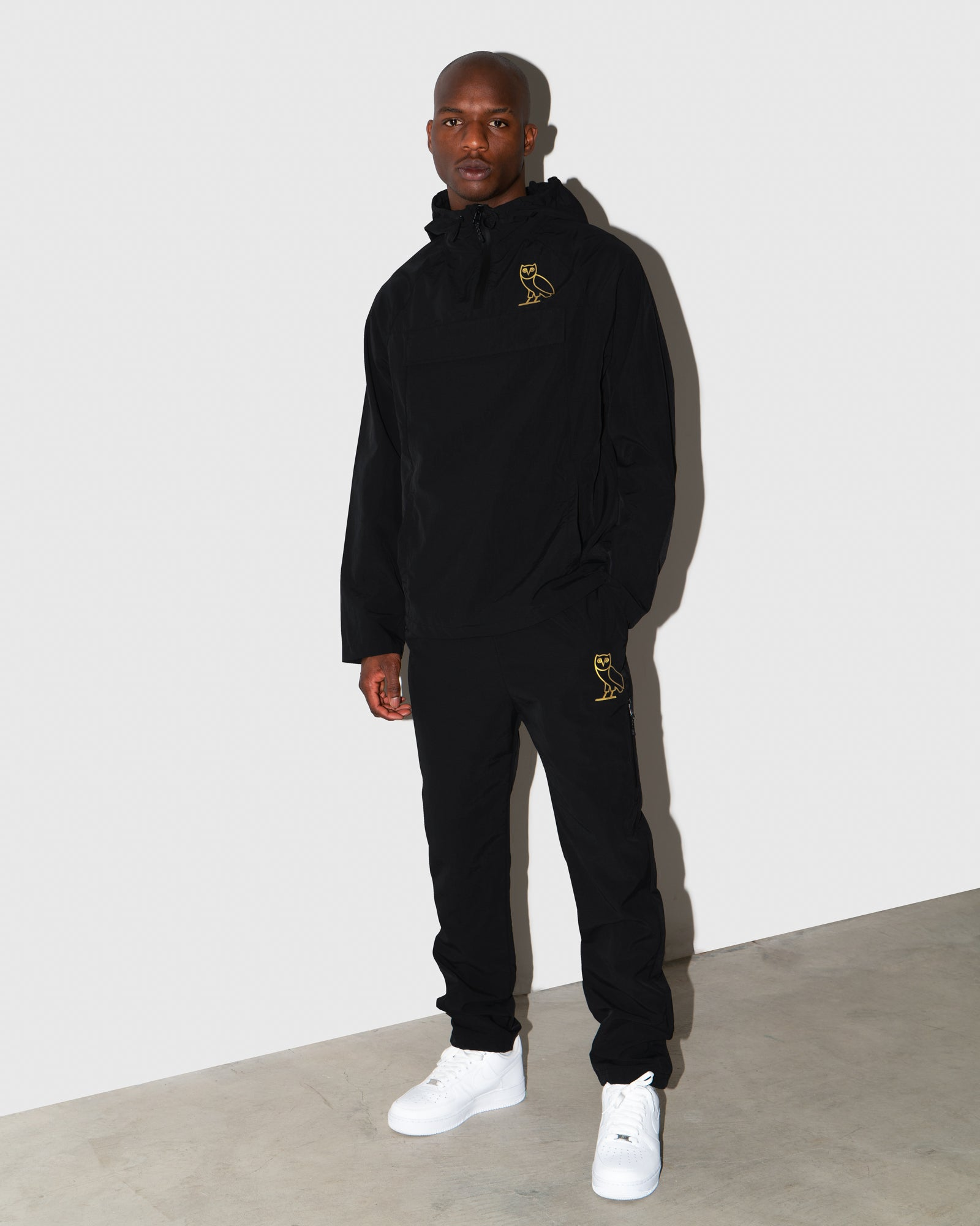 OVO NYLON SPLASH PANT - BLACK