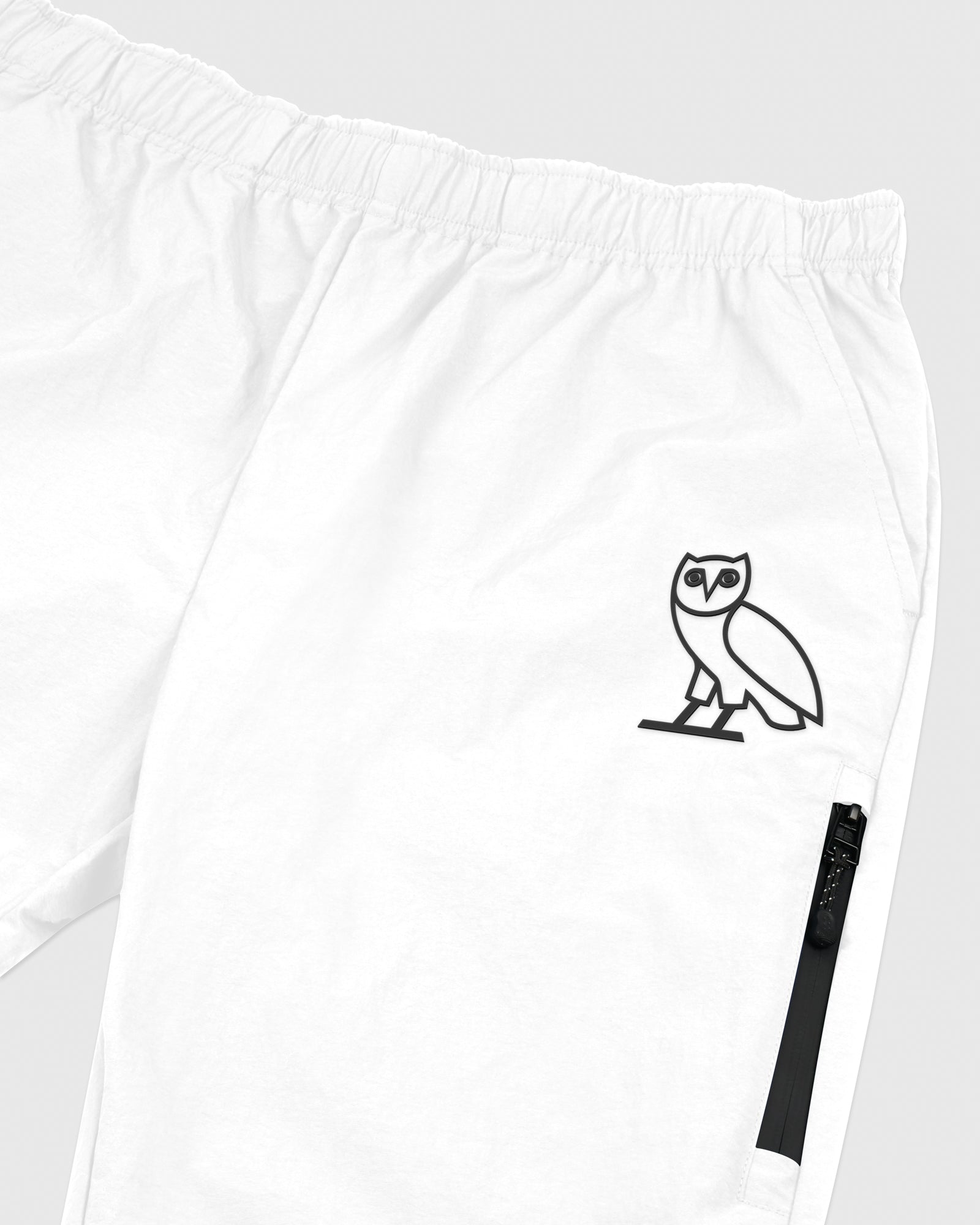 TASLAN ZIP POCKET PANT - WHITE IMAGE #3