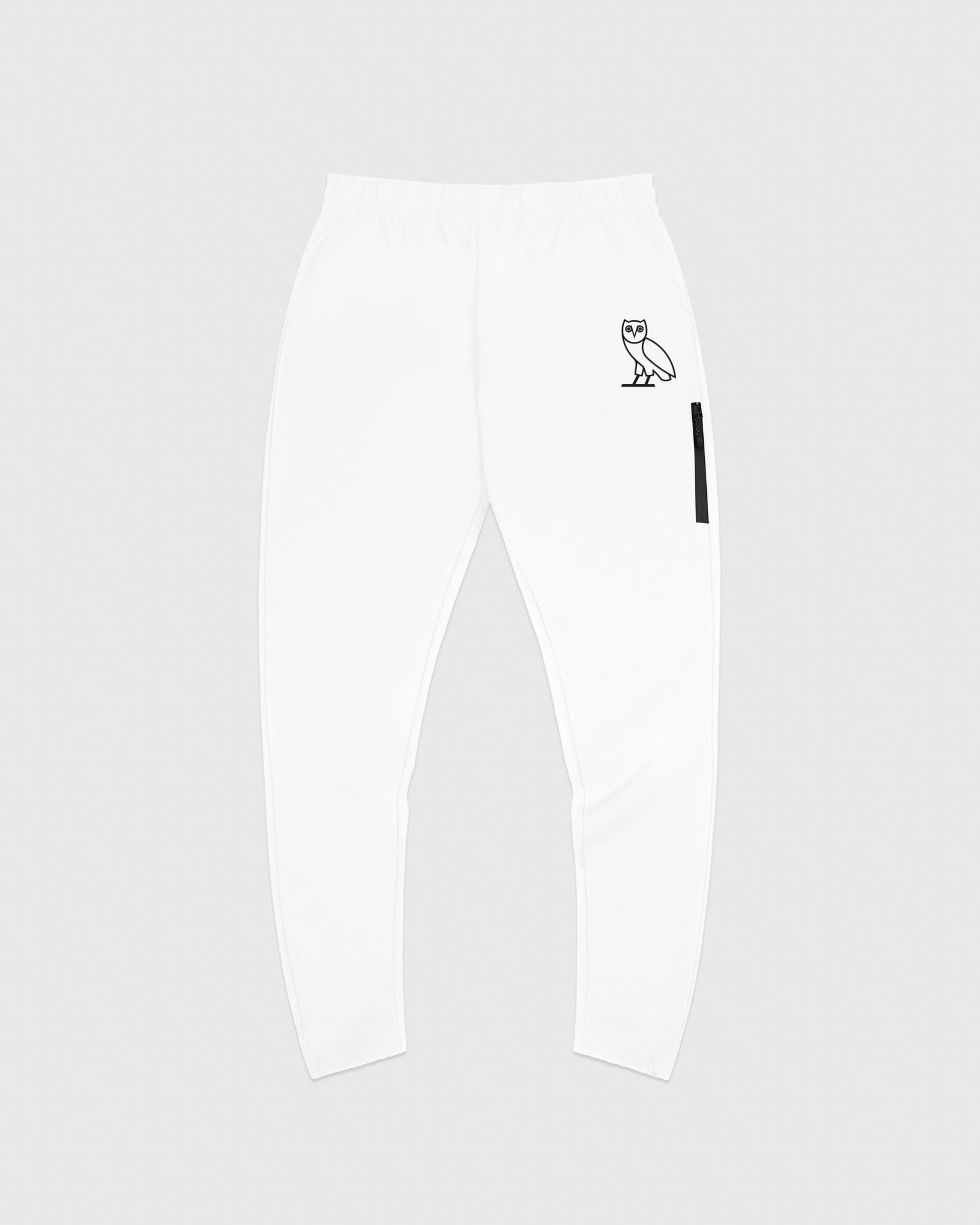 TASLAN ZIP POCKET PANT - WHITE IMAGE #1