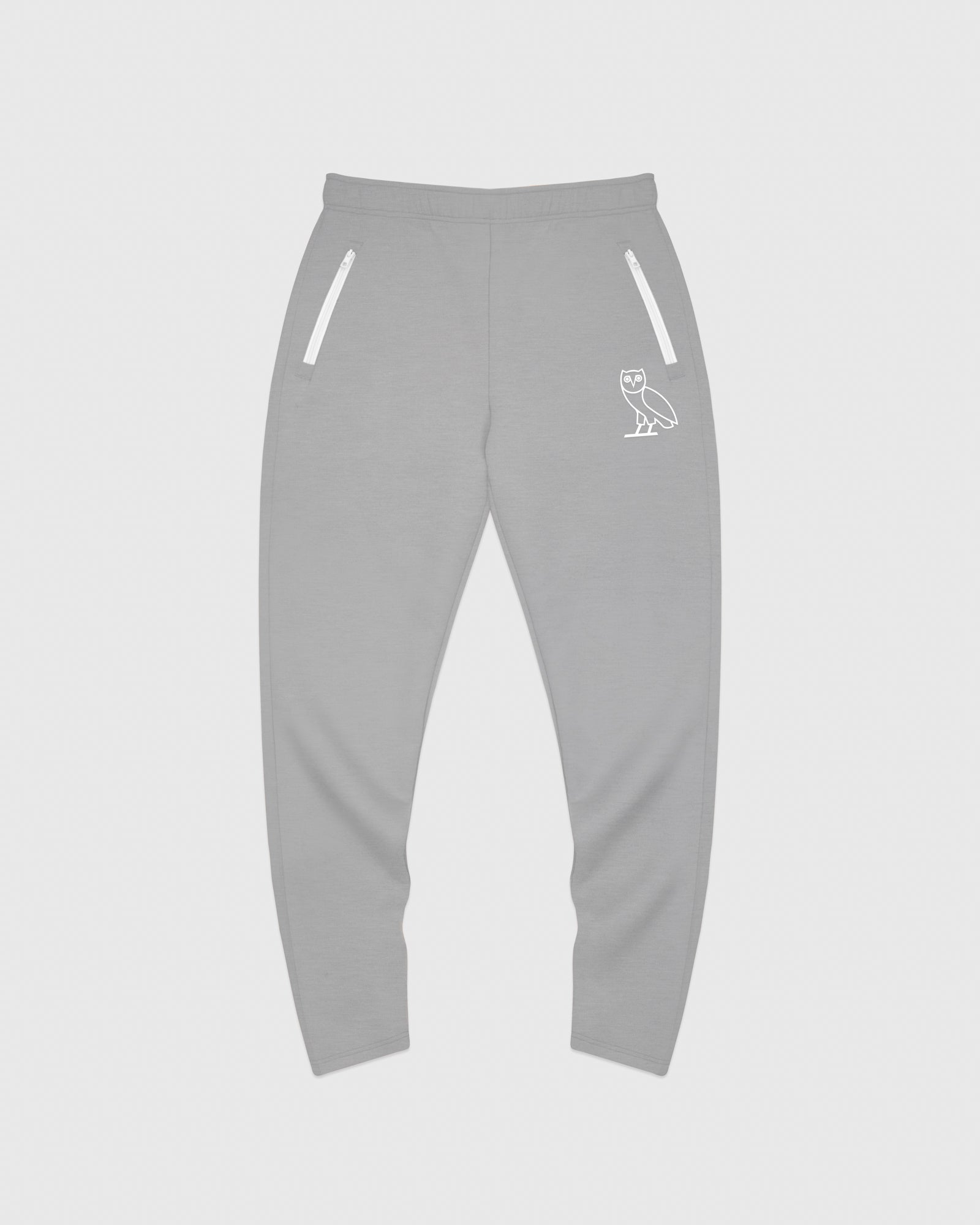 OVO INTERLOCK PANT - HEATHER GREY IMAGE #1