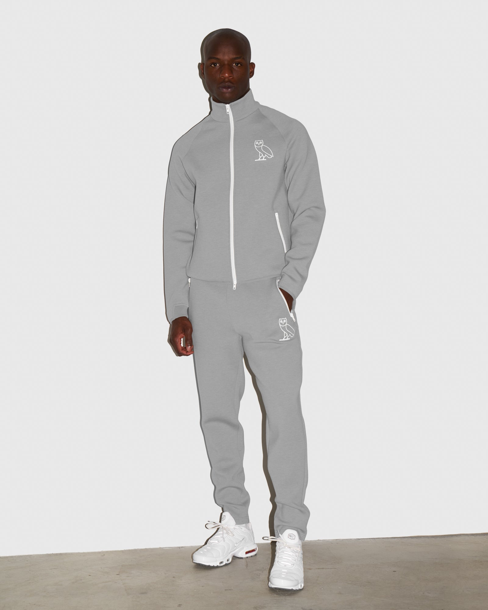 OVO INTERLOCK PANT - HEATHER GREY IMAGE #2