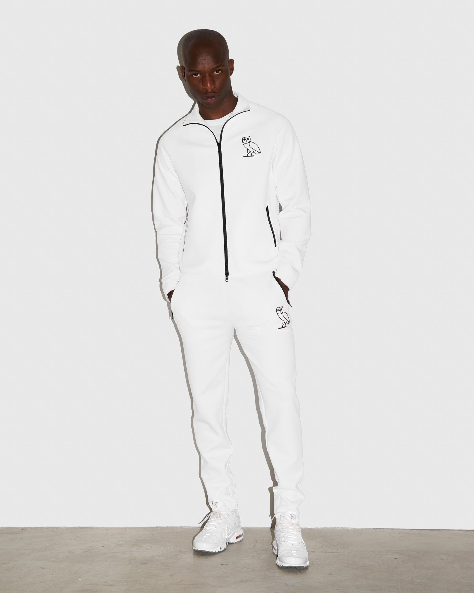 OVO INTERLOCK PANT - WHITE IMAGE #2