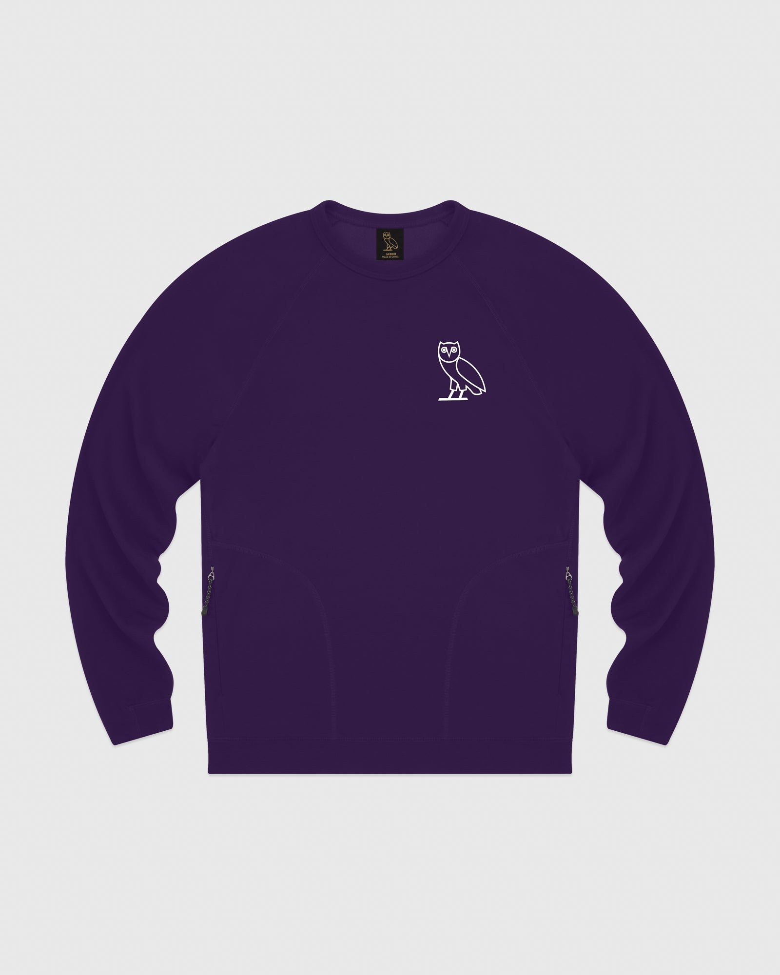 OVO LIGHTWEIGHT FRENCH TERRY CREWNECK - PURPLE IMAGE #1