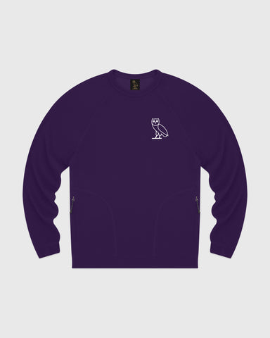OVO LIGHTWEIGHT FRENCH TERRY CREWNECK - PURPLE