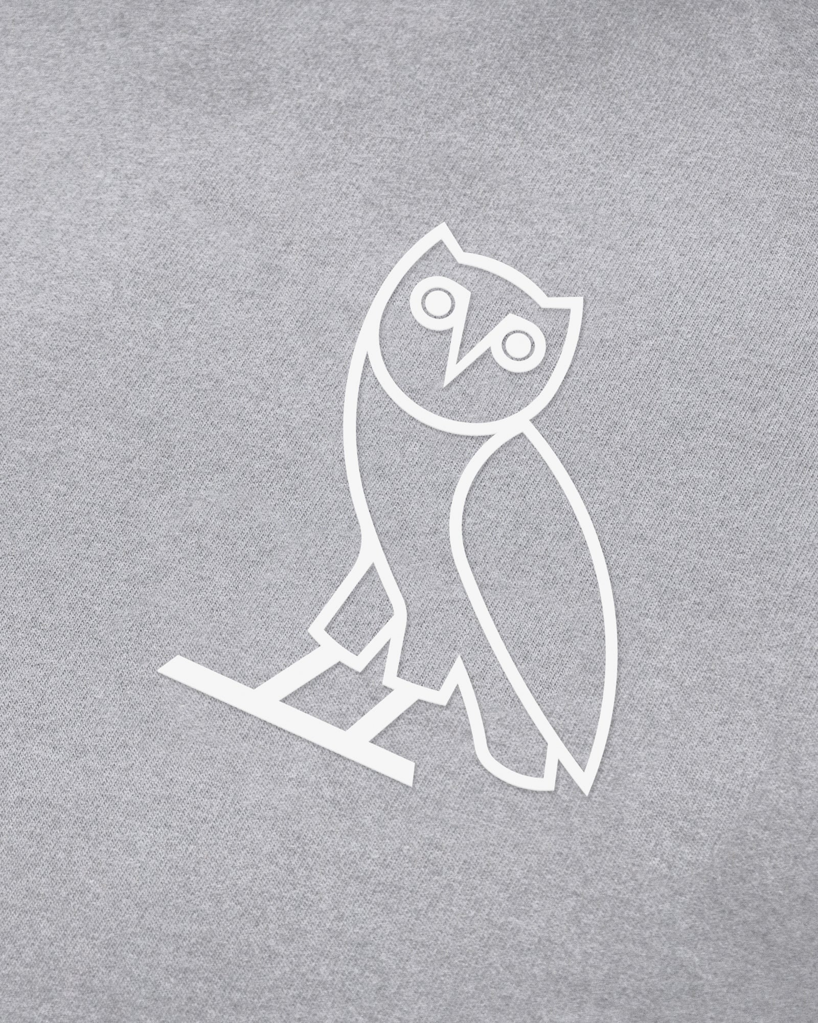 OVO LIGHTWEIGHT FRENCH TERRY HOODIE - HEATHER GREY IMAGE #3