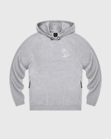 OVO LIGHTWEIGHT FRENCH TERRY HOODIE - HEATHER GREY