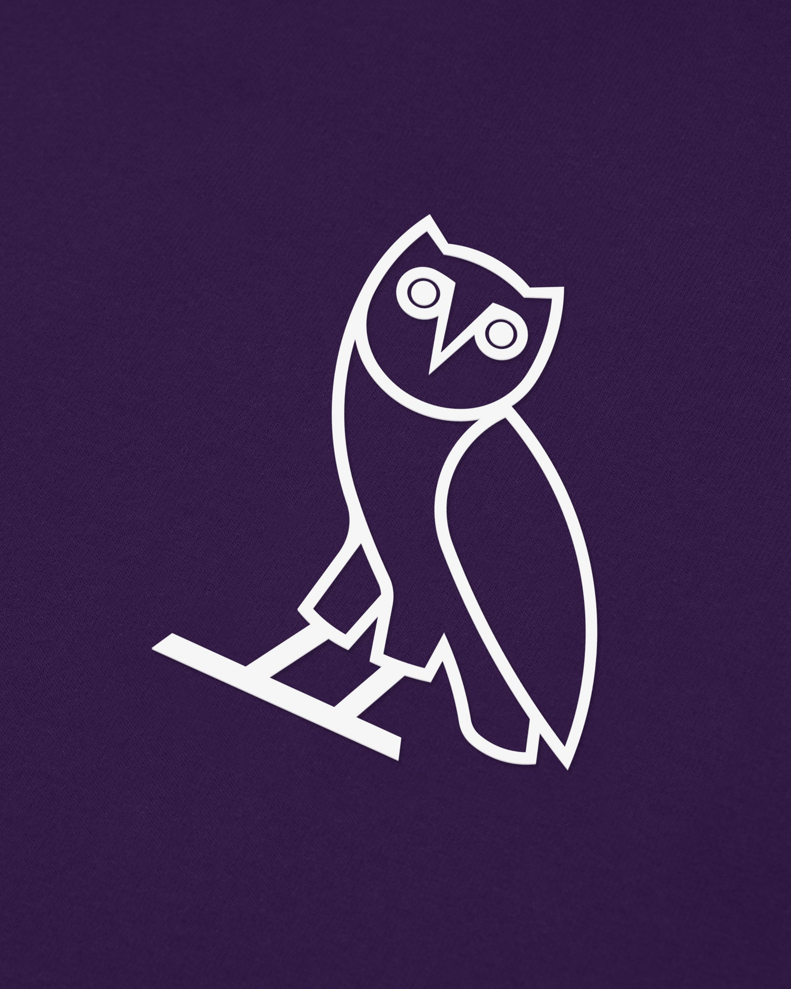OVO LIGHTWEIGHT FRENCH TERRY HOODIE - PURPLE IMAGE #3