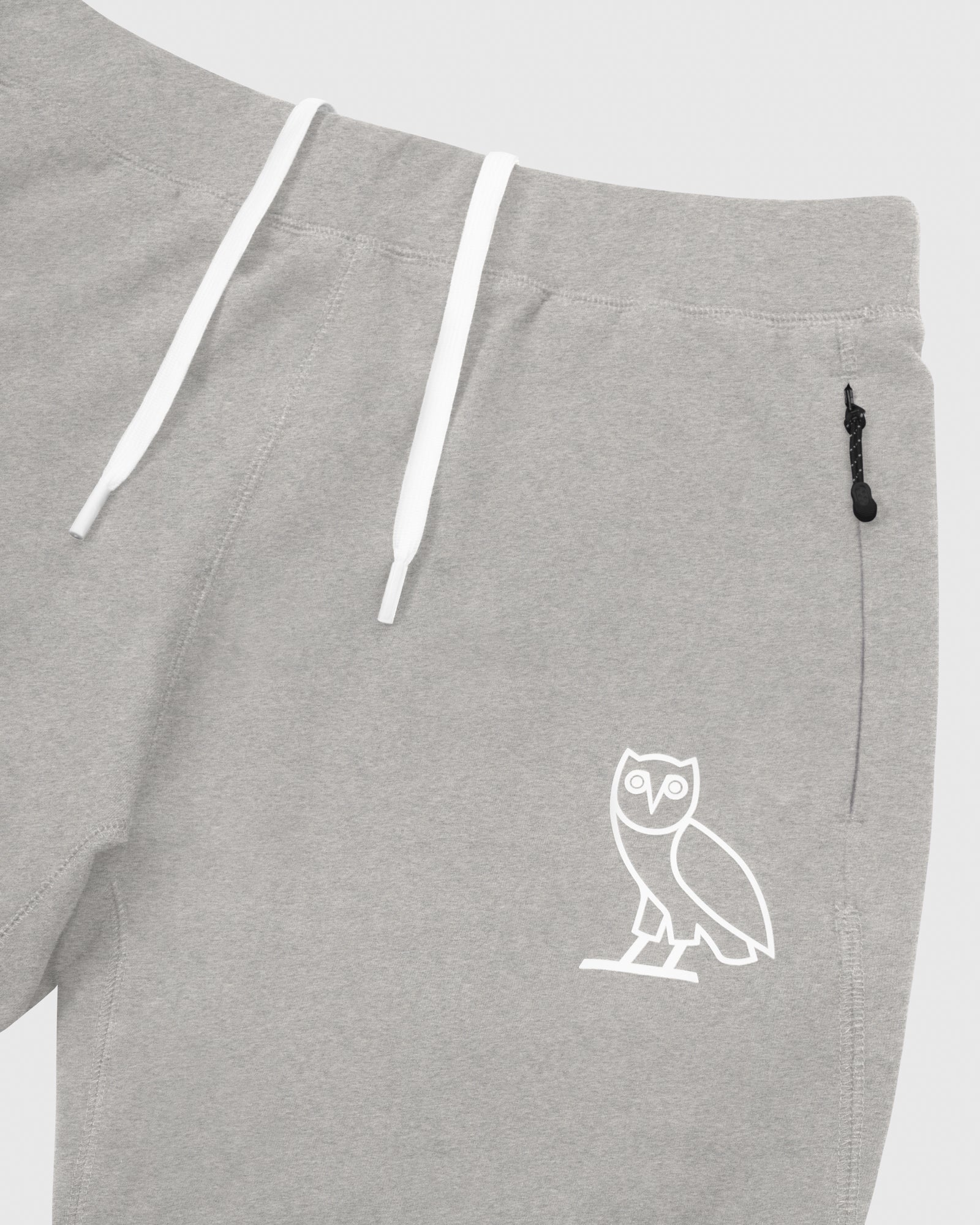 OVO LIGHTWEIGHT FRENCH TERRY SHORT - HEATHER GREY IMAGE #3