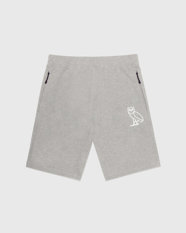 OVO LIGHTWEIGHT FRENCH TERRY SHORT - HEATHER GREY