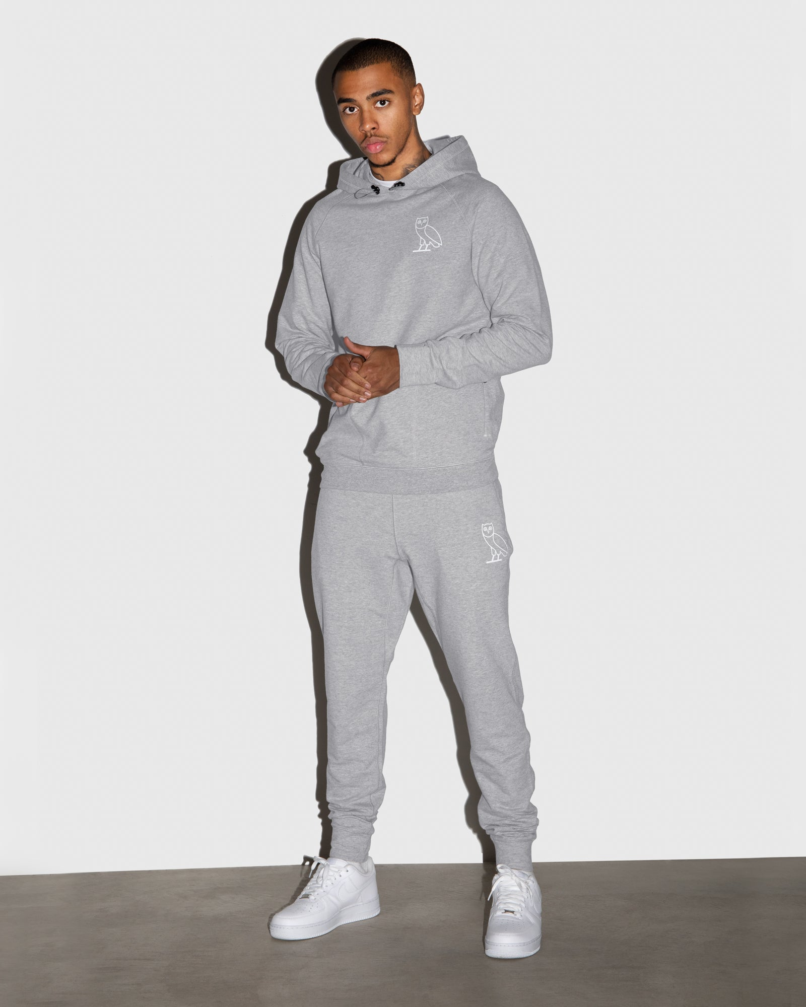 OVO LIGHTWEIGHT FRENCH TERRY SWEATPANT - HEATHER GREY IMAGE #2